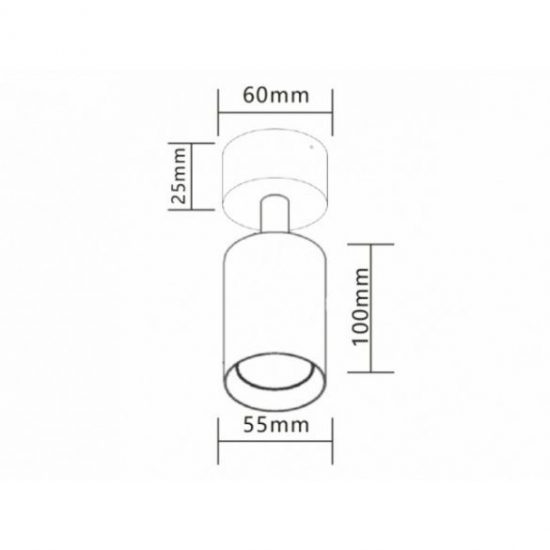 Strühm Alum kör alakú spot keret bézs/króm, GU10-es foglalattal