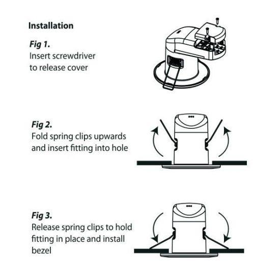 OPTONICA Tűzbiztos LED lámpatest  6Watt  40°  meleg fehér  Dimmelhető  IP65    5041