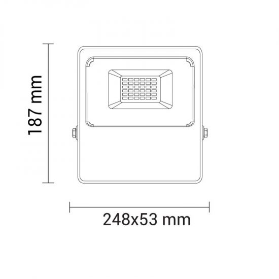 OPTONICA LED REFLEKTOR   30W 2400Lm  120º  fekete  RGB   FL5212