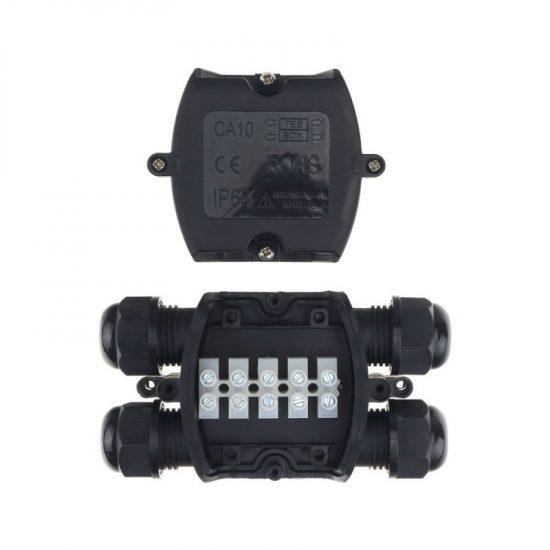 Optonica Kábelelosztódoboz 4 kábelbevezetővel, 1,5-4mm² IP68/ 6645
