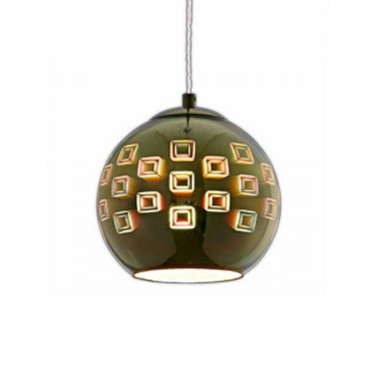 OPTONICA 3D Üveg csillár, E27, üveg bura, króm, 9004