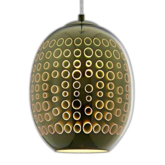 OPTONICA Függesztett lámpa üveg  króm színű kör minta  E27 max.40W  9008