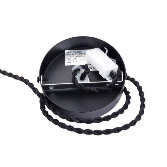 OPTONICA 3D üveg függő lámpa króm színű rombusz minta E27, 9014