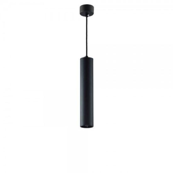 optonica függesztett dekor alumínium cső lámpa fekete külső, GU10-es foglalattal, 9062