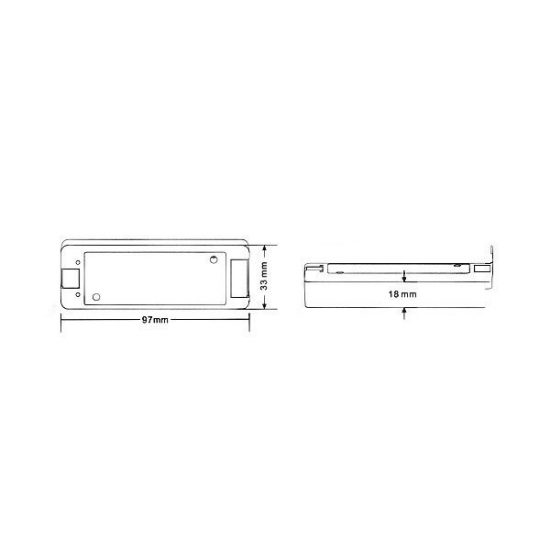 OPTONICA Vezérlő LED szalaghoz, rádiós, RGB/RGBW szalagok vezérlésére, DC 12V-144W/ DC 24V-288W/6342