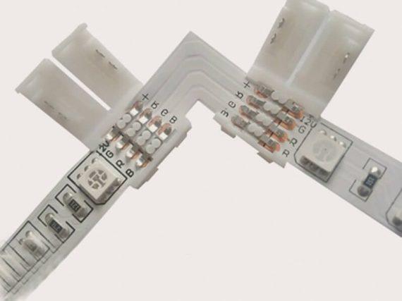 OPTONICA  sarok csatlakozó LED szalaghoz/ RGB / 10mm / AC6621