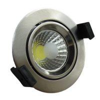 OPTONICA  LED Süllyeszthető spot lámpatest / 8W/ matt króm  / hideg fehér /CB3203