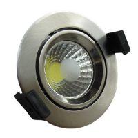 OPTONICA  LED Süllyeszthető spot lámpatest / 8W/ matt króm  / nappali fehér /CB3205