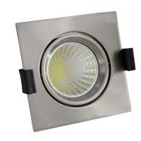 OPTONICA  LED Süllyeszthető spot lámpatest / 8W/ matt króm / hideg fehér /CB3223
