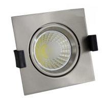 OPTONICA  LED Süllyeszthető spot lámpatest / 8W/ matt króm / meleg fehér /CB3225
