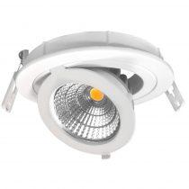 OPTONICA  LED Süllyeszthető spot lámpatest/ dönthető, forgatható / 12W/ fehér / hideg fehér /CB3251