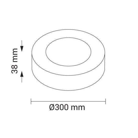 OPTONICA FALON KÍVÜLI LED PANEL / 24W / KÖR / 300mm /hideg fehér/ DL2248