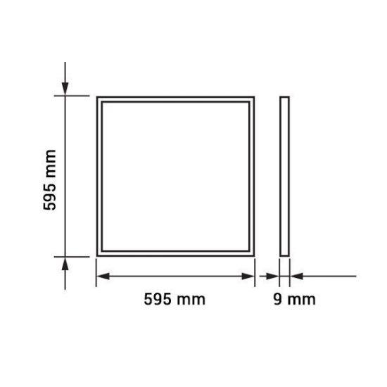 OPTONICA LED PANEL TÁPEGYSÉGGEL/29w/3600lm/600x600/nappali fehér/DL2384