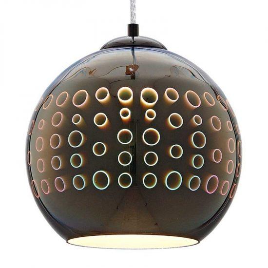 OPTONICA 3D Üveg csillár /(E27) üveg bura, króm/ DP9003