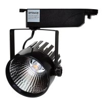 OPTONICA BELTÉRI LED REFLEKTOR / 12W / fekete / meleg fehér / FL5117
