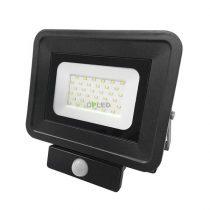 OPTONICA SMD2  LED REFLEKTOR / mozgásérzékelős / 30W /  Fekete / Nappali fehér / FL5860