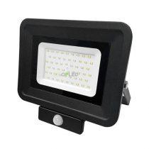 OPTONICA SMD2  LED REFLEKTOR / mozgásérzékelős / 50W /  Fekete / Hideg fehér / FL5862
