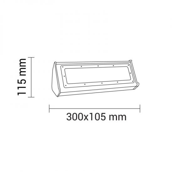 OPTONICA LED Ipari Világítás  50W  5000lm  nappali fehér  HB8152