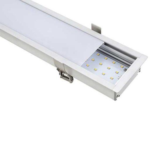 Optonica Lineáris Süllyeszthető Sorolható LED Lámpa,beltéri, 40W, 3400lm, nappali fehér, LN5377
