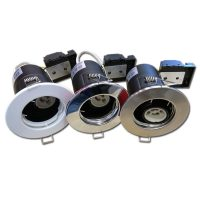 OPTONICA Tűzbiztos álmennyezeti beépíthető spot lámpa GU10 szatén króm / fix / OT5062