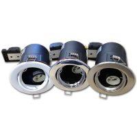 OPTONICA Tűzbiztos álmennyezeti beépíthető spot lámpa GU10 króm/ billenthető / OT5064