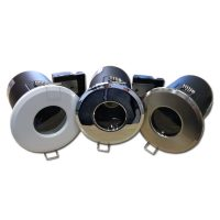 OPTONICA Tűzbiztos álmennyezeti beépíthető spot lámpa GU10 szatén  króm / fix / IP65 / OT5068