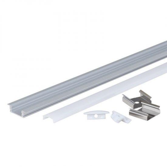 OPTONICA Led profil opál fedővel 6mm-1m / OT5193