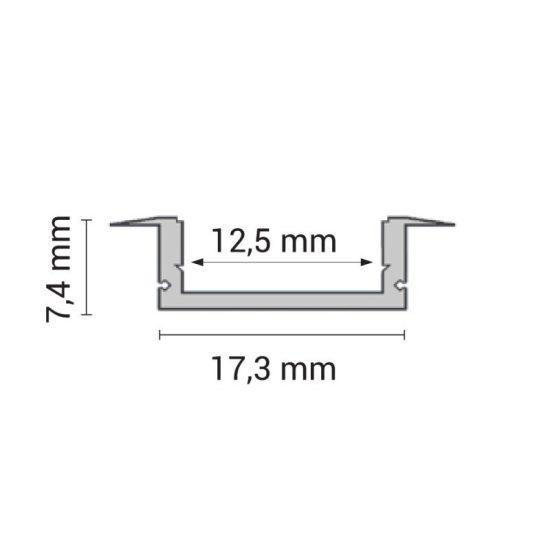 OPTONICA Led profil opál fedővel 6mm-1m, OT5193