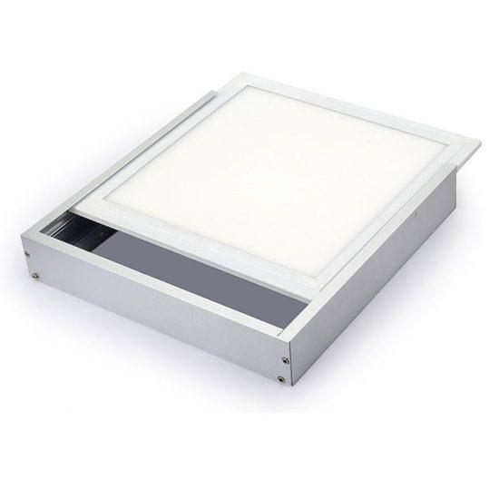 OPTONICA LED panel falon kívüli beépítőkeret / 600x600mm / Alumínium / OT5198