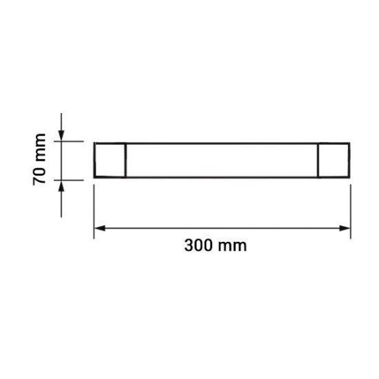 OPTONICA LED Bútorvilágító / 30cm /120°/ 10W / meleg  fehér / OT6673