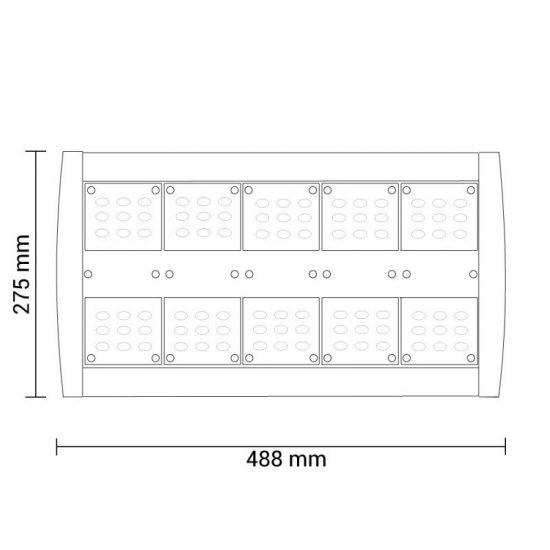 Optonica LED Utcai Lámpa /150W/12500Lm/hideg fehér/SL9146
