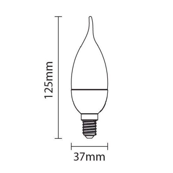 OPTONICA  LED IZZÓ / E14 / 6W / 180°/hideg fehér/ SP1466