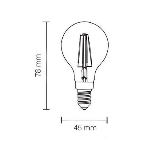 OPTONICA FILAMENT IZZÓ / E14 / 4W /  meleg fehér /SP1479