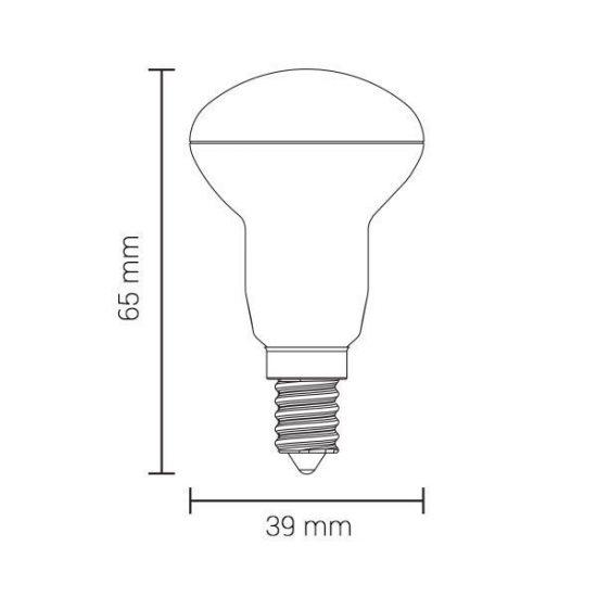 OPTONICA LED IZZÓ / E14 / 4W / 200°/hideg fehér/ SP1487