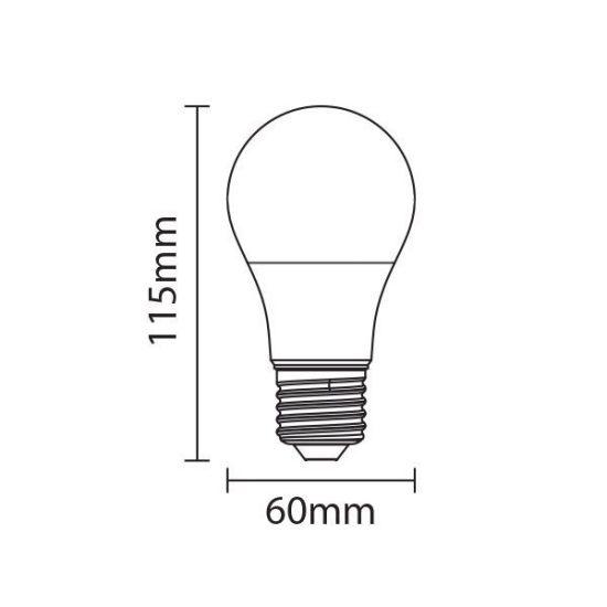 OPTONICA PRÉMIUM LED IZZÓ / E27 / 12W /60x118mm/ meleg fehér/ SP1723