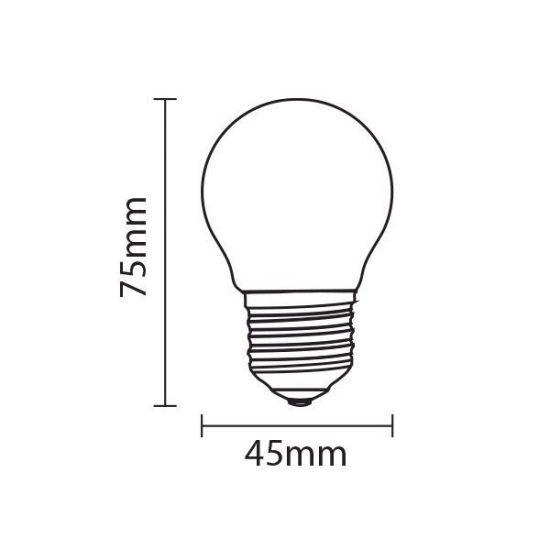 OPTONICA LED IZZÓ / E27 / 6W /45x75mm/  hideg fehér/ SP1816