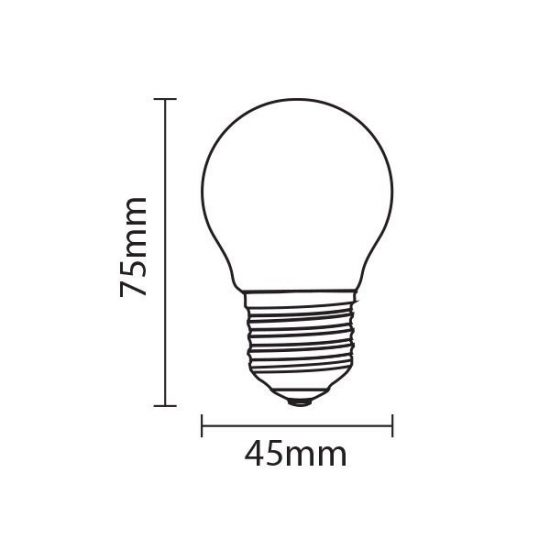 OPTONICA LED IZZÓ / E27 / 4W /45x57mm/  nappali fehér/ SP1839