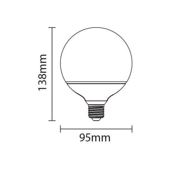 OPTONICA  LED IZZÓ, E27, 12W, 95x138mm, dimmelhető, meleg fehér, SP1844