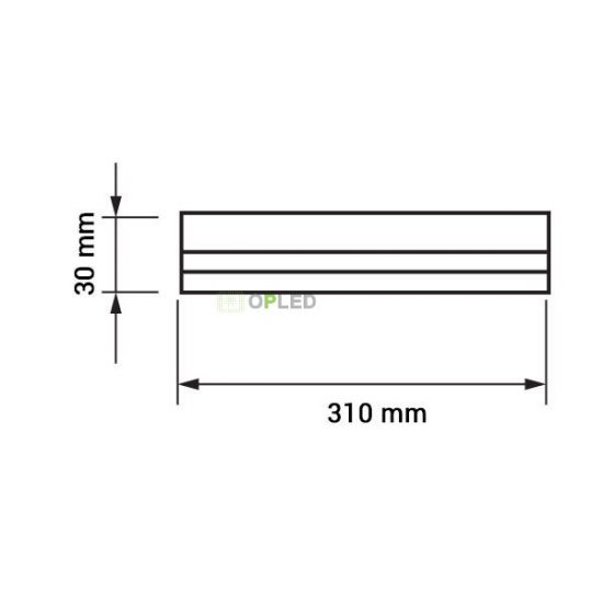 OPTONICA LED fénycső / T5 / 4W / 28x310mm / hideg fehér / TU5653