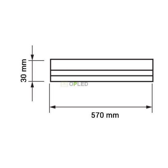 OPTONICA LED fénycső / T5 / 8W / 28x570mm / meleg fehér / TU5656